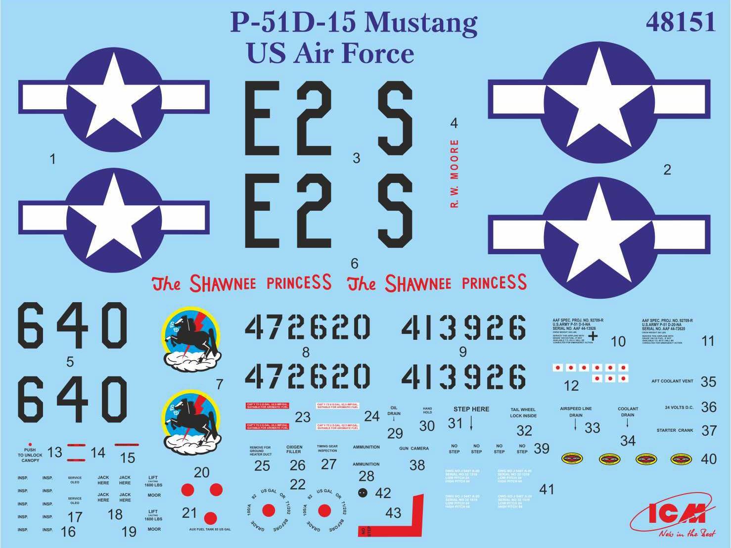 Mustang P-51D-15 -  1/48 - ICM 48151  - BLIMPS COMÉRCIO ELETRÔNICO
