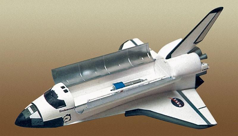 NASA Space Shuttle com satélite Navstar - 1/144 - Minicraft 11668  - BLIMPS COMÉRCIO ELETRÔNICO