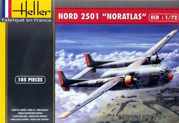 Nord 2501 Noratlas - 1/72 - Heller 80374  - BLIMPS COMÉRCIO ELETRÔNICO
