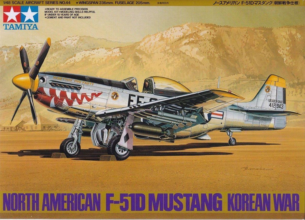 North American F-51D Mustang Korean War - 1/48 - Tamiya 61044  - BLIMPS COMÉRCIO ELETRÔNICO