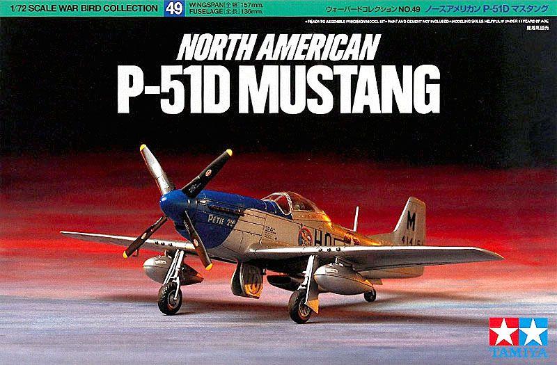 North American P-51D Mustang - 1/72 - Tamiya 60749  - BLIMPS COMÉRCIO ELETRÔNICO