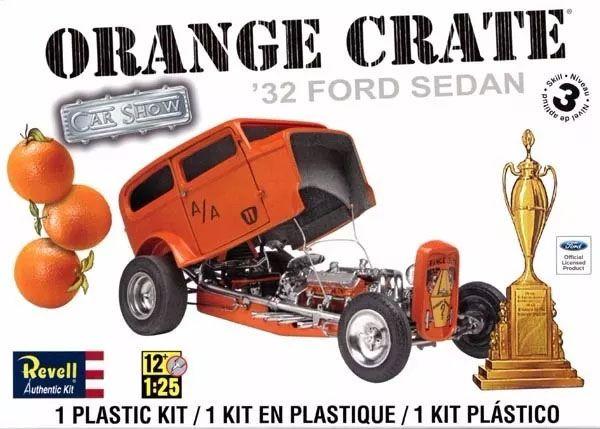 Orange Crate Ford Sedan 1932 - 1/25 - Revell 85-4939  - BLIMPS COMÉRCIO ELETRÔNICO