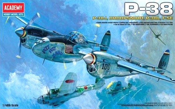 P-38 - 1/48 - Academy 12282  - BLIMPS COMÉRCIO ELETRÔNICO