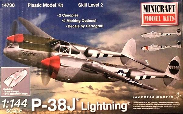 P-38J Lightning - 1/144 - Minicraft 14730  - BLIMPS COMÉRCIO ELETRÔNICO