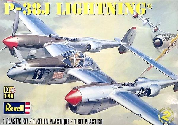 P-38J Lockheed Lightning - 1/48 - Revell 85-5479  - BLIMPS COMÉRCIO ELETRÔNICO