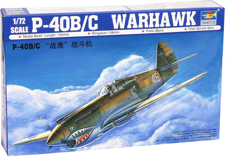P-40B/C Warhawk - 1/72 - Trumpeter 01632  - BLIMPS COMÉRCIO ELETRÔNICO