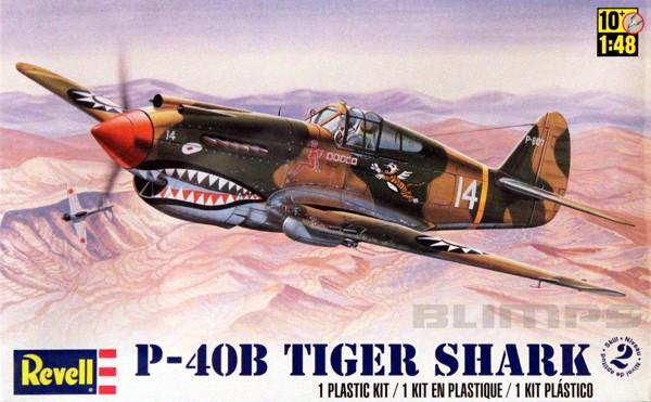 P-40B Tiger Shark - 1/48 - Revell 85-5209  - BLIMPS COMÉRCIO ELETRÔNICO