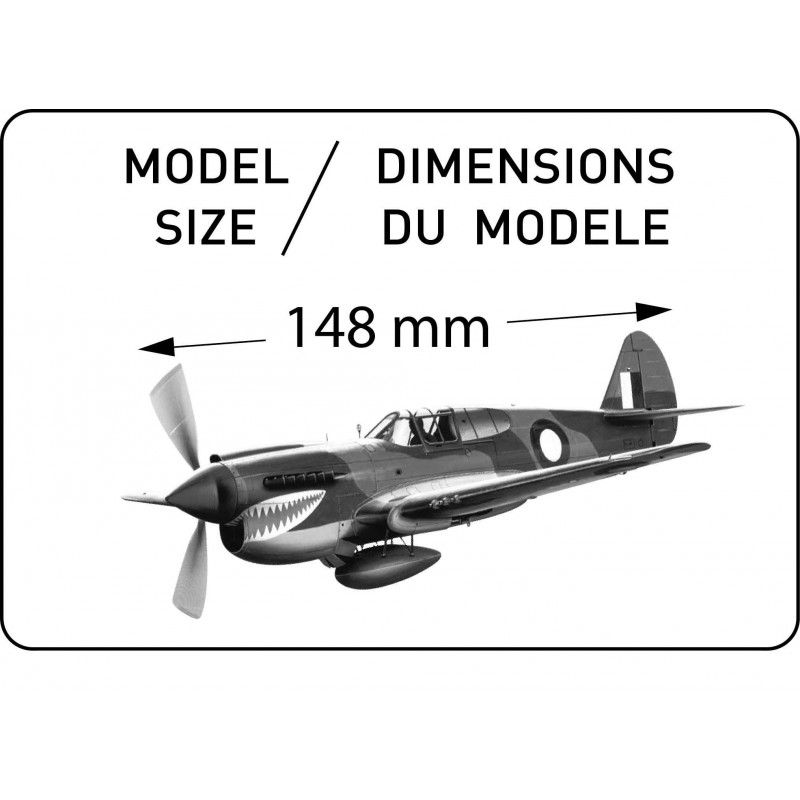 P-40E Kittyhawk - 1/72 - Heller 80266  - BLIMPS COMÉRCIO ELETRÔNICO