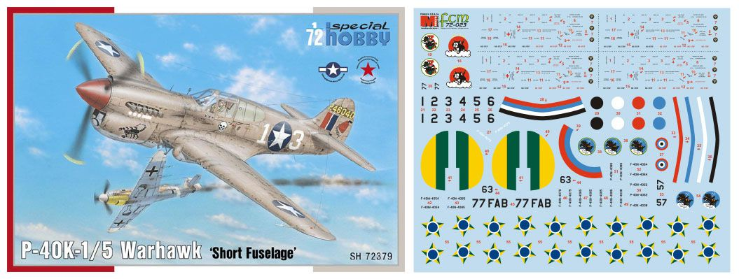 P-40K-1/5 - 1/72 - Special Hobby 72379 com decalques FAB  - BLIMPS COMÉRCIO ELETRÔNICO