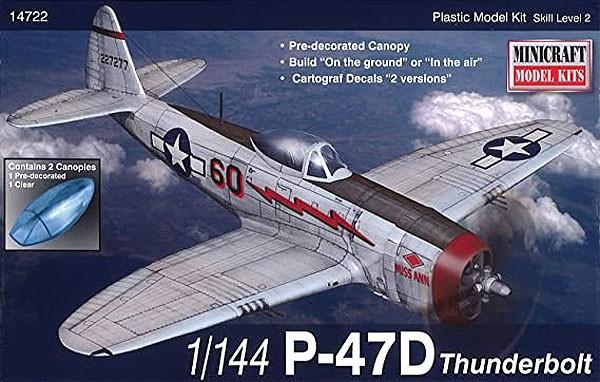 P-47D Thunderbolt - 1/144 - Minicraft 14722  - BLIMPS COMÉRCIO ELETRÔNICO