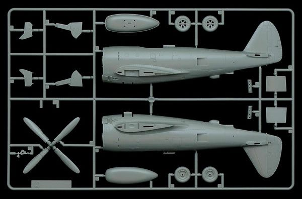 P-47D Thunderbolt com decalque da FAB - 1/48 - Italeri 2728  - BLIMPS COMÉRCIO ELETRÔNICO