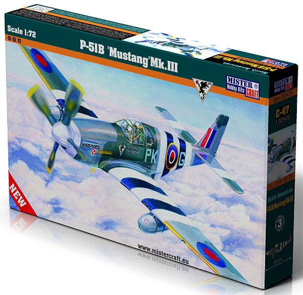 P-51B Mustang Mk.III - 1/72 - Mistercraft C-47  - BLIMPS COMÉRCIO ELETRÔNICO