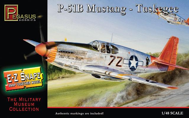 P-51B Mustang - Tuskegee - 1/48 - Pegasus 8404  - BLIMPS COMÉRCIO ELETRÔNICO