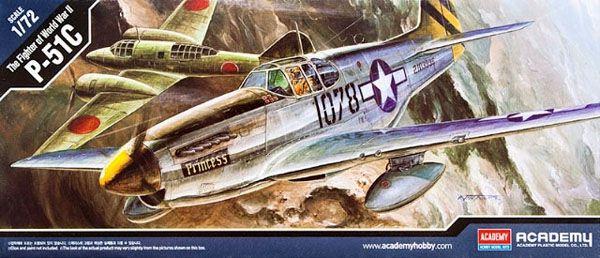 P-51C Mustang - 1/72 - Academy 12441  - BLIMPS COMÉRCIO ELETRÔNICO