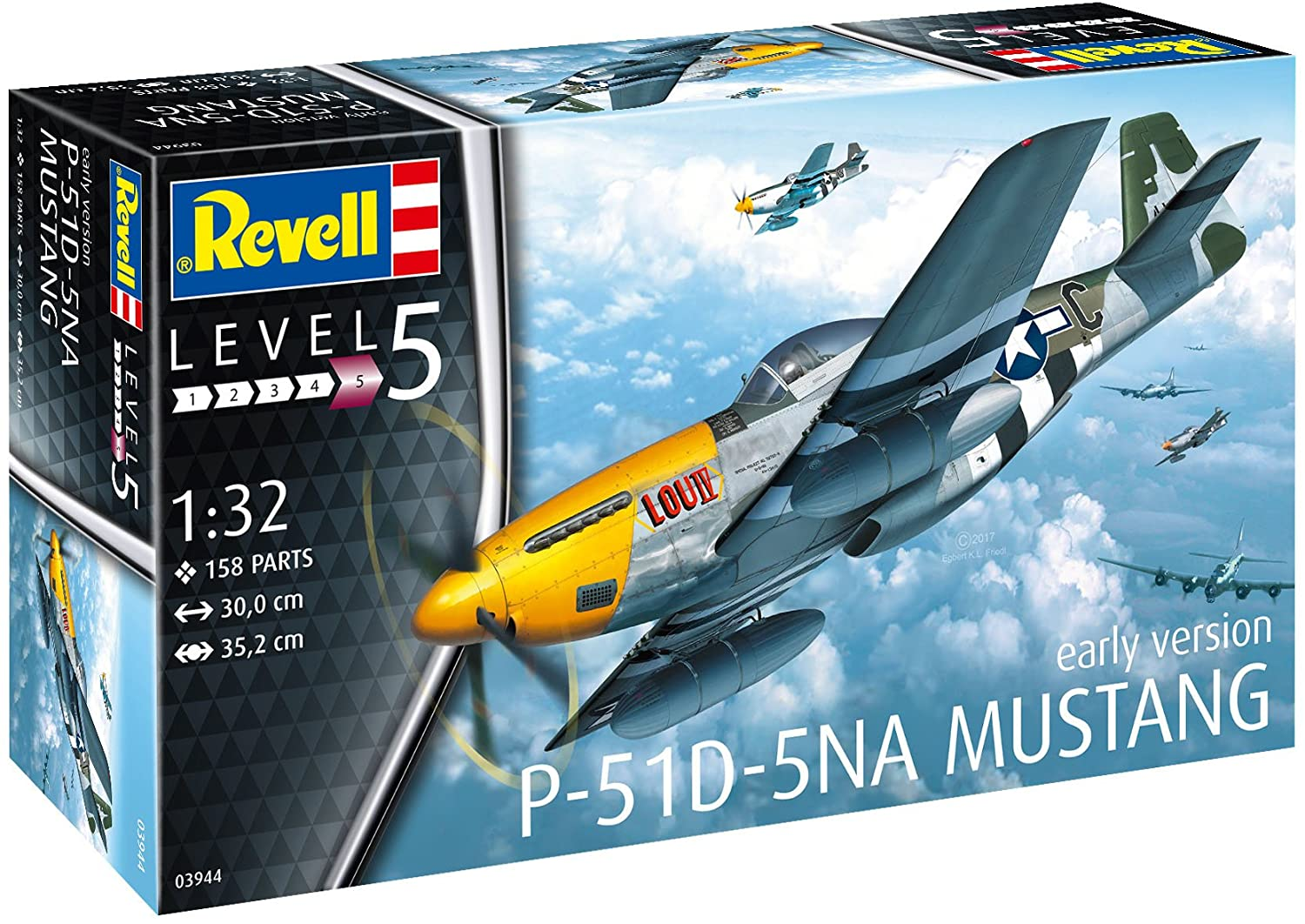 P-51D-5NA Mustang (early version) - 1/32 - Revell 03944  - BLIMPS COMÉRCIO ELETRÔNICO