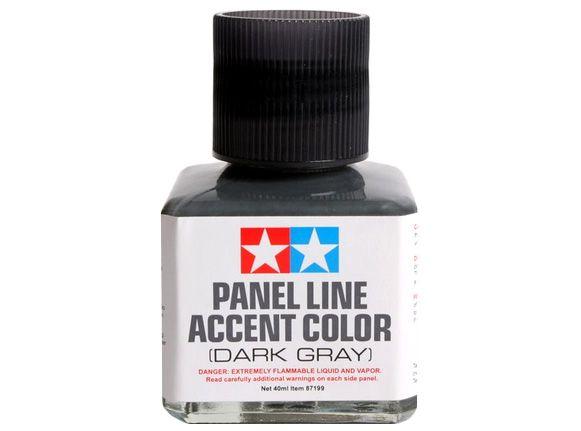 Panel Line Acccent Color - Cinza Escuro - Tamiya 87199  - BLIMPS COMÉRCIO ELETRÔNICO