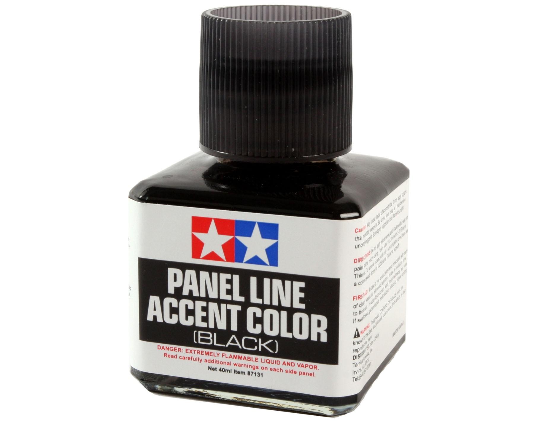 Panel Line Acccent Color - Preta - Tamiya 87131  - BLIMPS COMÉRCIO ELETRÔNICO