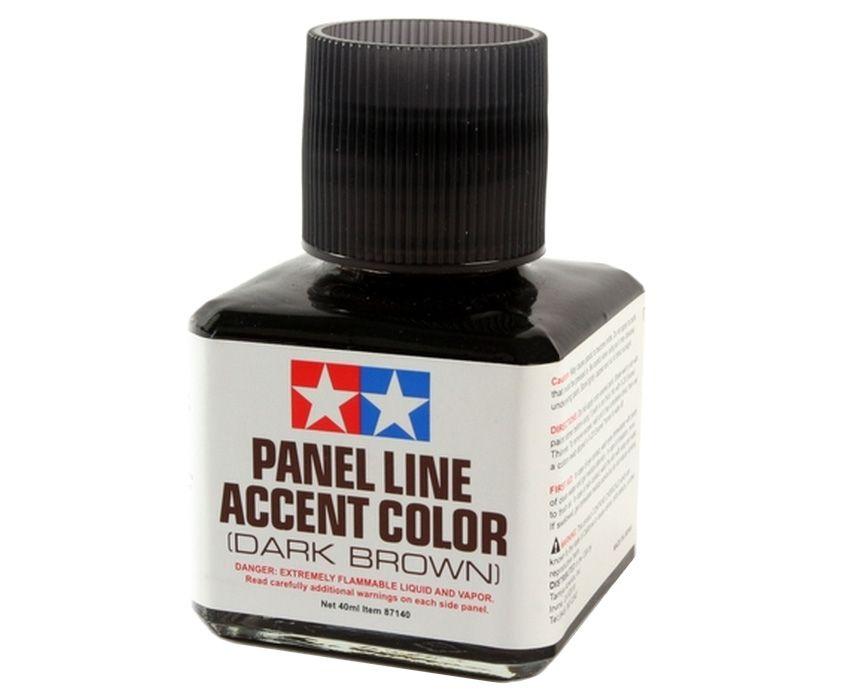 Panel Line Accent Color - Marrom Escuro - Tamiya 87140  - BLIMPS COMÉRCIO ELETRÔNICO