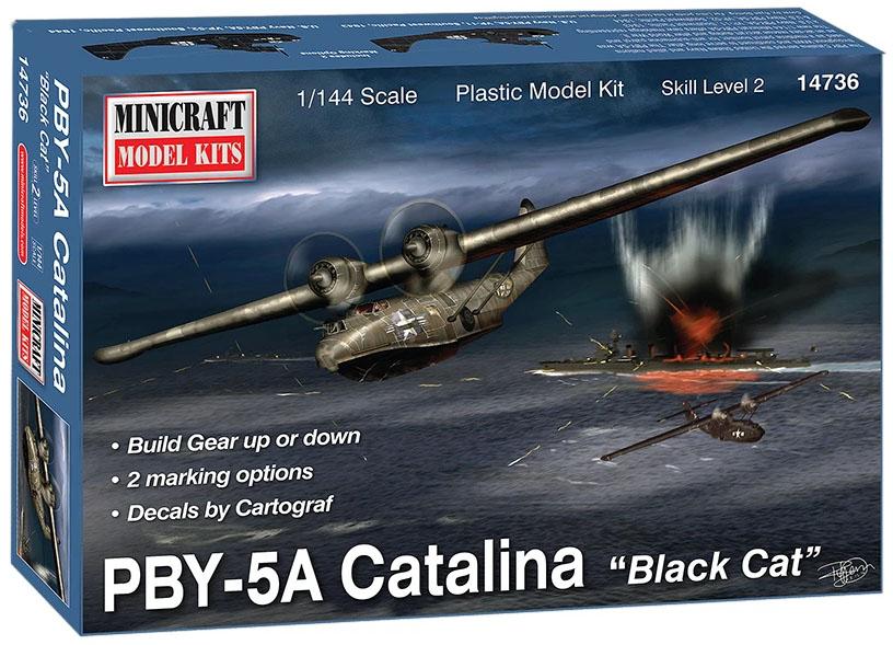 "PBY-5A Catalina ""Black Cat"" - 1/144 - Minicraft 14736  - BLIMPS COMÉRCIO ELETRÔNICO"