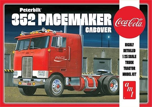 Peterbilt 352 Pacemaker Cabover (Coca-Cola) - 1/25 - AMT 1090  - BLIMPS COMÉRCIO ELETRÔNICO