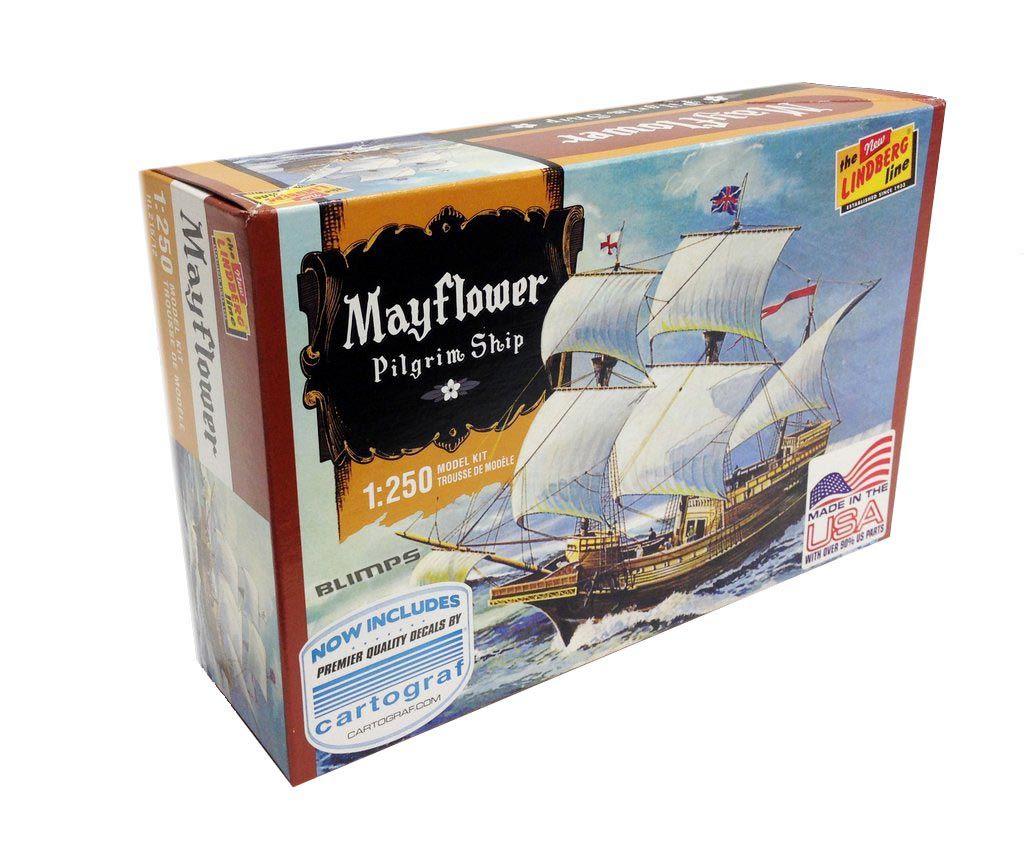Pilgrim Ship Mayflower - 1/250 - Lindberg HL215  - BLIMPS COMÉRCIO ELETRÔNICO
