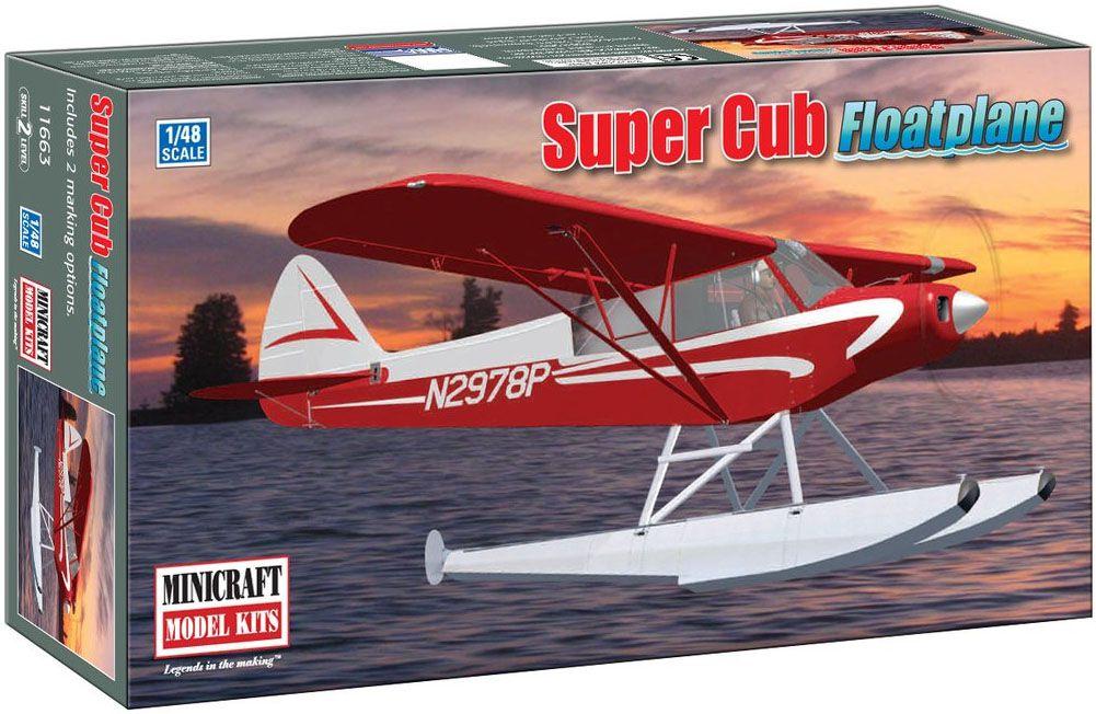 Piper PA-18 Super Cub Floatplane - 1/48 - Minicraft 11663  - BLIMPS COMÉRCIO ELETRÔNICO