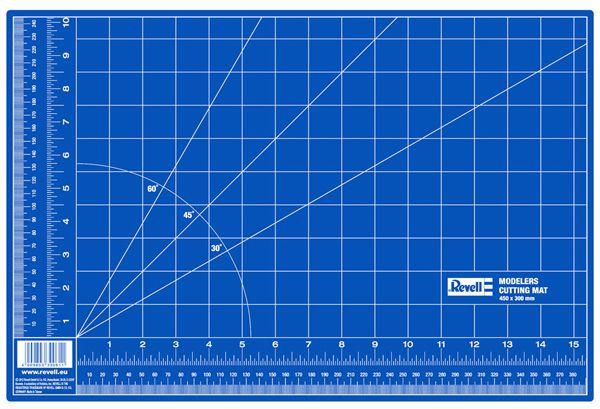 Placa de corte auto-reparável - 450 x 300 mm - Revell 39057  - BLIMPS COMÉRCIO ELETRÔNICO