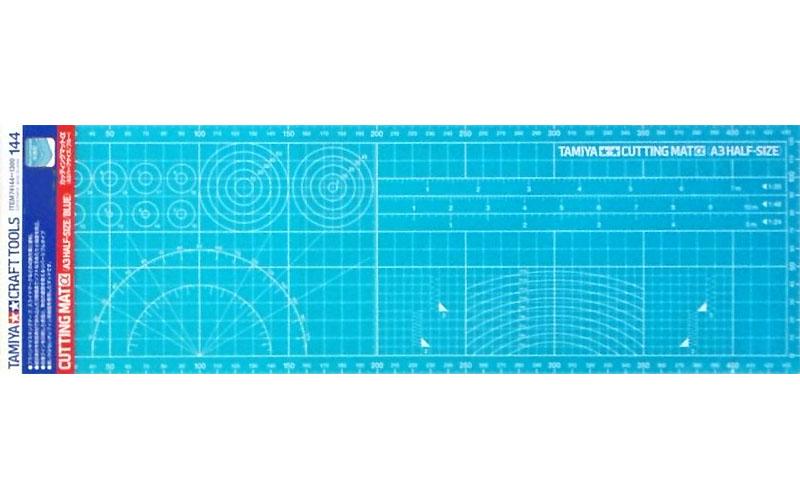 Placa de corte (metade do tamanho A3 - Azul) - Tamiya 74144  - BLIMPS COMÉRCIO ELETRÔNICO