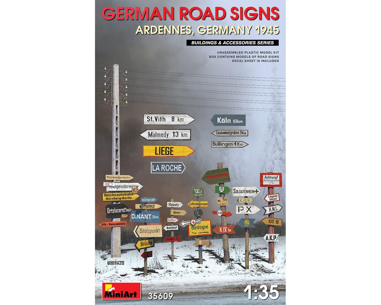 Placas de sinalização de estradas alemãs WWII - 1/35 - MiniArt 35609  - BLIMPS COMÉRCIO ELETRÔNICO