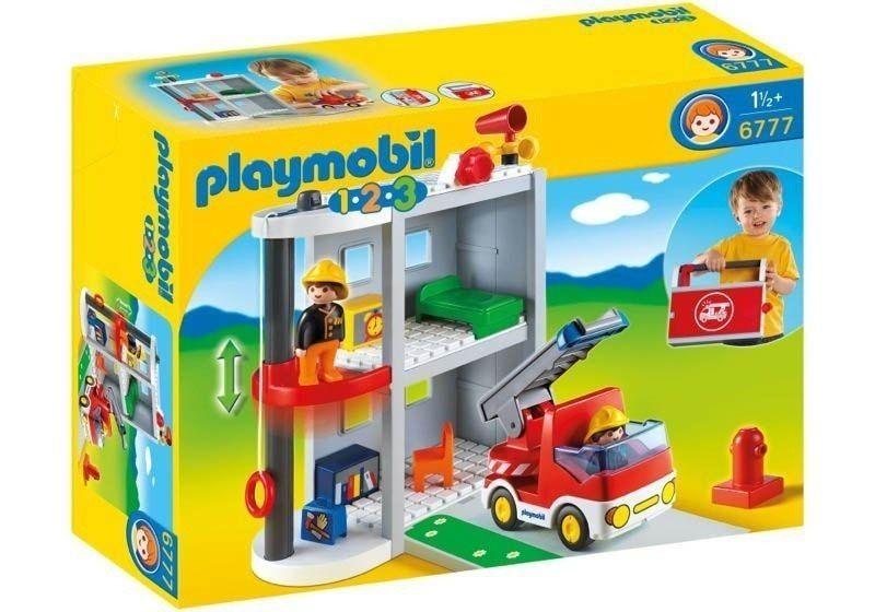 Playmobil 1-2-3 - Maleta Estação de Bombeiro - 6777  - BLIMPS COMÉRCIO ELETRÔNICO