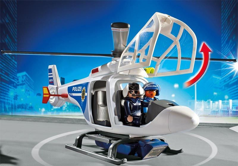 Playmobil City Action - Helicóptero de Polícia - 6874  - BLIMPS COMÉRCIO ELETRÔNICO