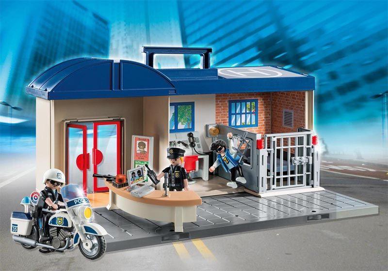 Playmobil City Action - Maleta Estação de Comando da Polícia - 5299  - BLIMPS COMÉRCIO ELETRÔNICO