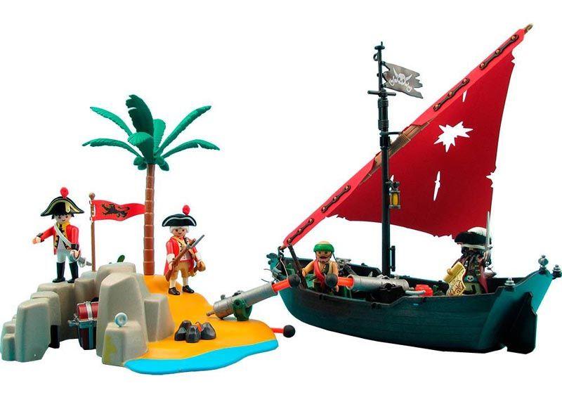 Playmobil Pirates - Navio Pirata com Soldados - 5646  - BLIMPS COMÉRCIO ELETRÔNICO