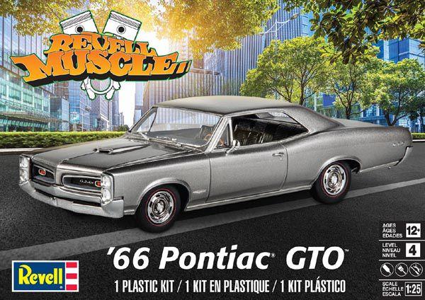 Pontiac GTO 1966 - 1/25 - Revell 85-4479  - BLIMPS COMÉRCIO ELETRÔNICO