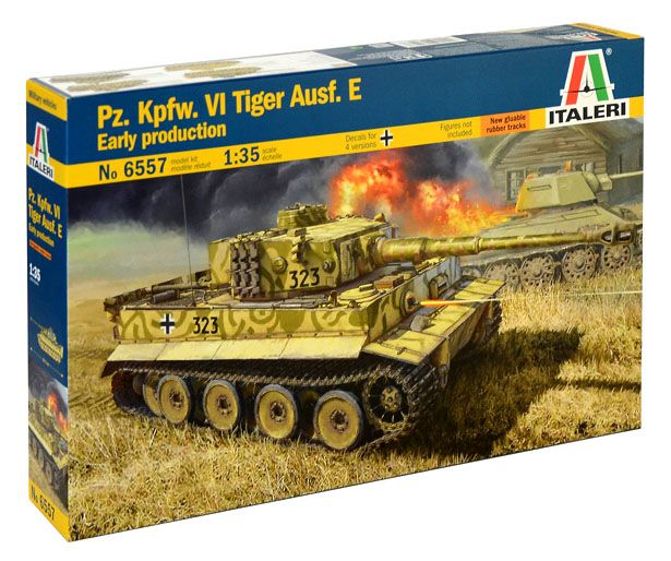 Pz. Kpfw. VI Tiger Ausf. E Early Production - 1/35 - Italeri 6557  - BLIMPS COMÉRCIO ELETRÔNICO
