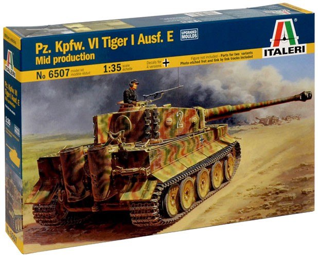 Pz. Kpfw. VI Tiger Ausf. E Mid Production - 1/35 - Italeri 6507  - BLIMPS COMÉRCIO ELETRÔNICO