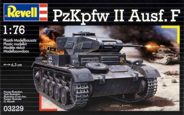 PzKpfw II Ausf. F - 1/76 - Revell 03229  - BLIMPS COMÉRCIO ELETRÔNICO