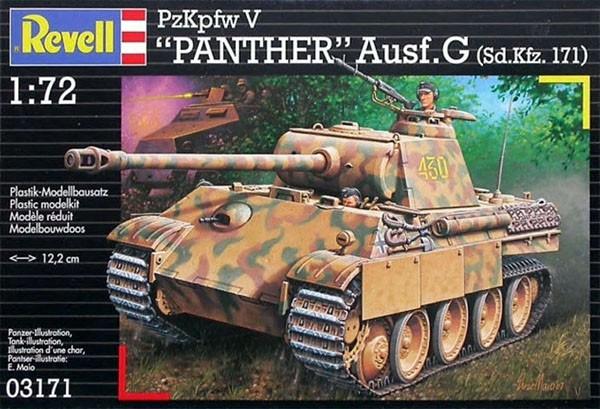 PzKpfw V PANTHER Ausf.G (Sd.Kfz. 171) - 1/72 - Revell 03171  - BLIMPS COMÉRCIO ELETRÔNICO