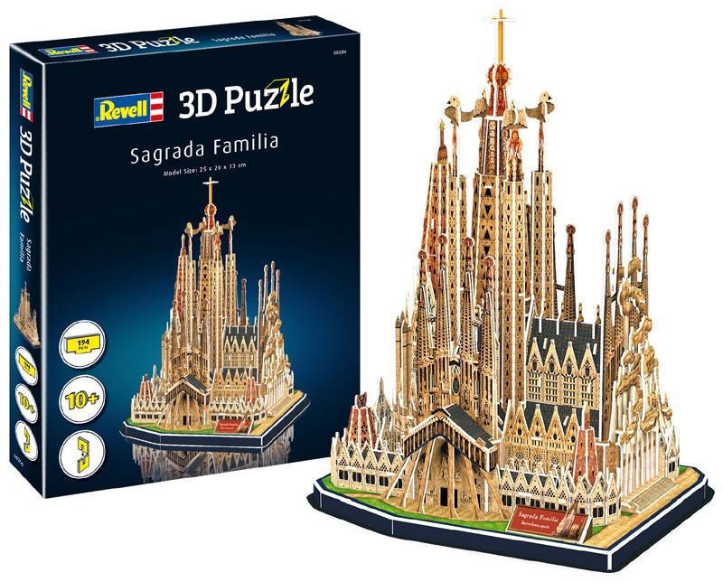 Quebra-cabeça 3D (3D Puzzle) Basílica da Sagrada Família - Revell 00206  - BLIMPS COMÉRCIO ELETRÔNICO