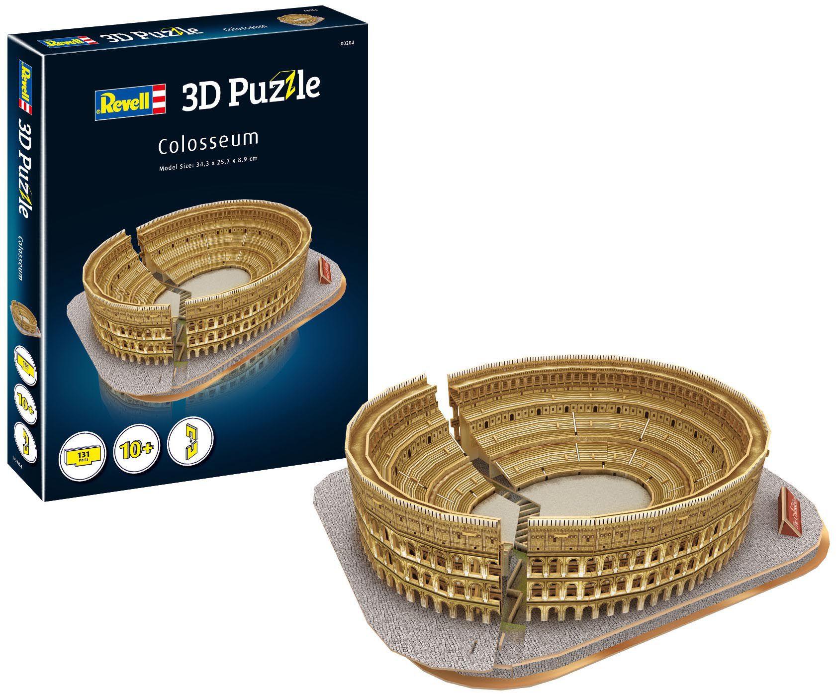 Quebra-cabeça 3D (3D Puzzle) Coliseu de Roma - Revell 00204  - BLIMPS COMÉRCIO ELETRÔNICO