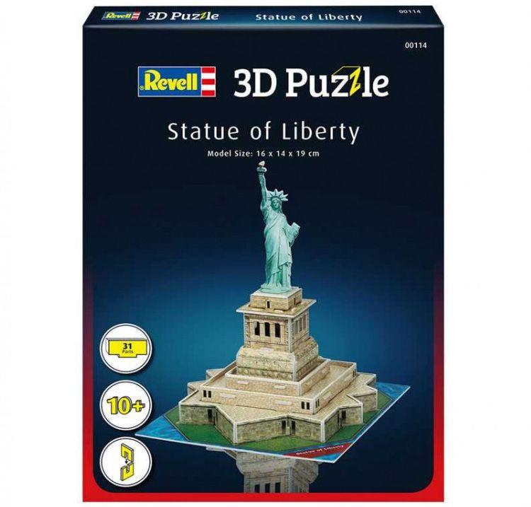 Quebra-cabeça 3D (3D Puzzle) Estátua da Liberdade - Revell 00114  - BLIMPS COMÉRCIO ELETRÔNICO