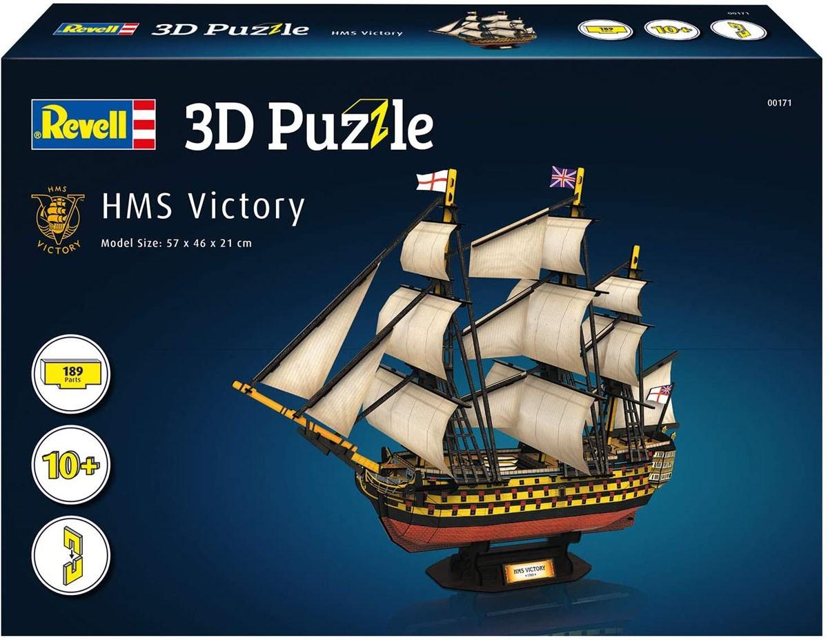 Quebra-cabeça 3D (3D Puzzle) HMS Victory - Revell 00171  - BLIMPS COMÉRCIO ELETRÔNICO