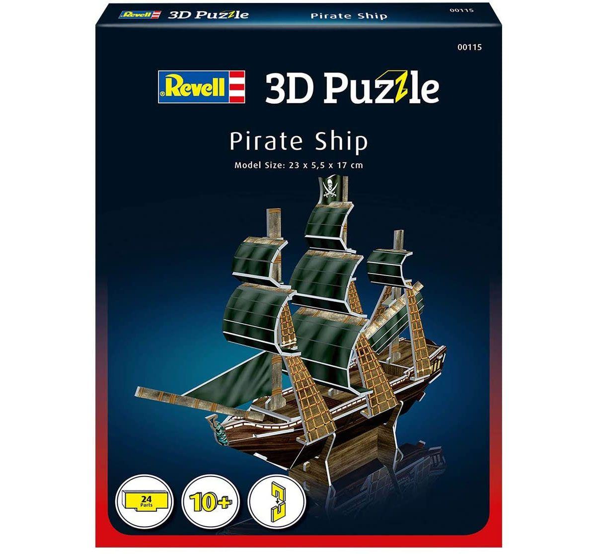 Quebra-cabeça 3D (3D Puzzle) Navio Pirata - Revell 00115  - BLIMPS COMÉRCIO ELETRÔNICO
