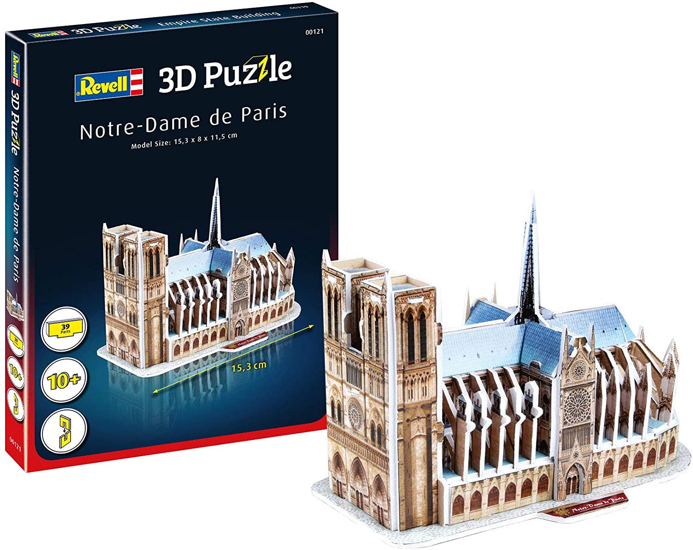 Quebra-cabeça 3D (3D Puzzle) Notre-Dame de Paris - Revell 00121  - BLIMPS COMÉRCIO ELETRÔNICO