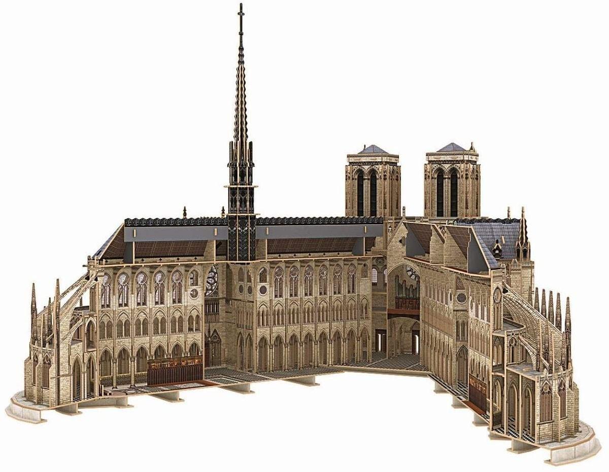 Quebra-cabeça 3D (3D Puzzle) Notre-Dame de Paris - Revell 00190  - BLIMPS COMÉRCIO ELETRÔNICO