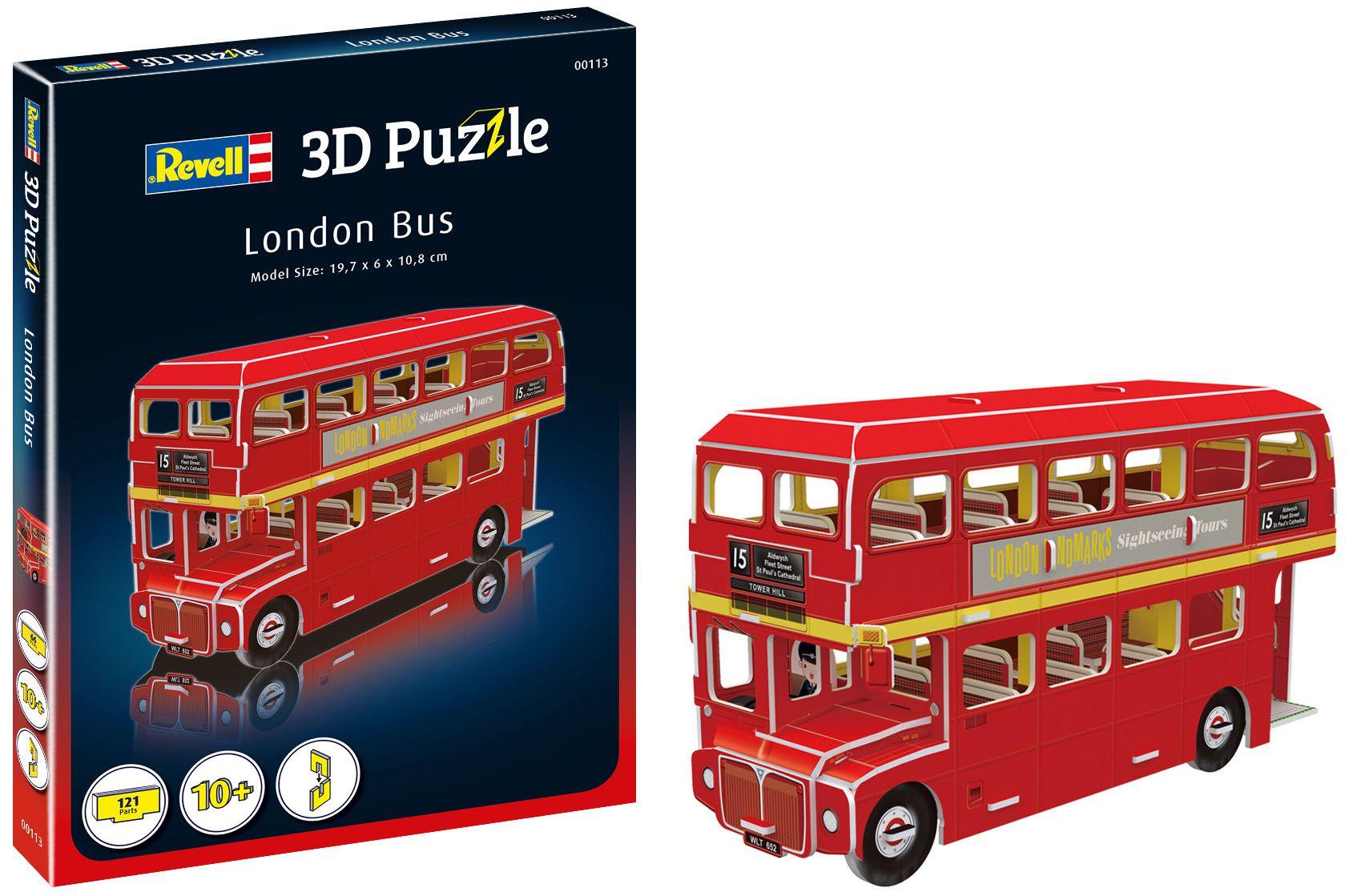 Quebra-cabeça 3D (3D Puzzle) Ônibus de Londres - Revell 00113  - BLIMPS COMÉRCIO ELETRÔNICO