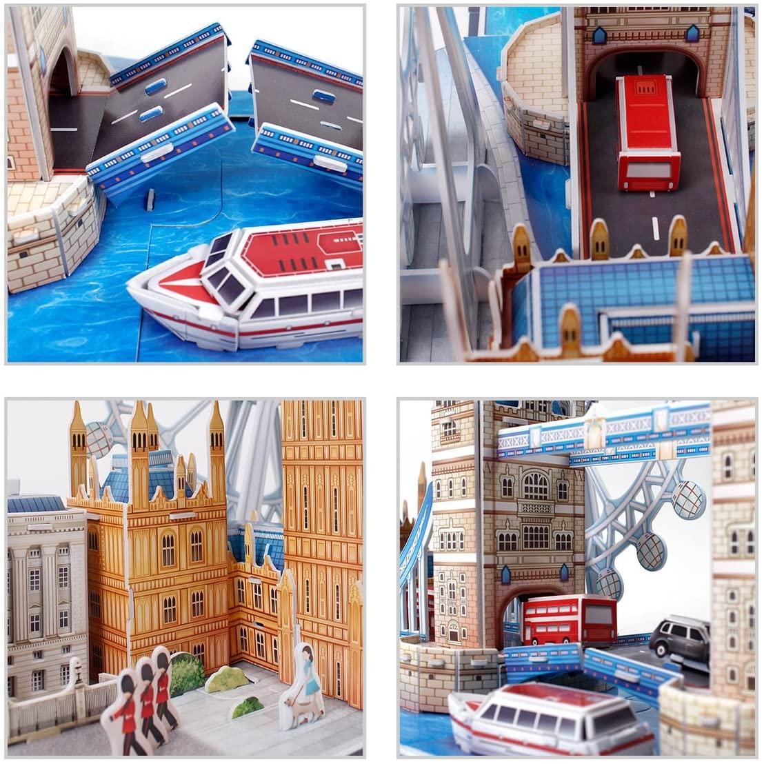 Quebra-cabeça 3D (3D Puzzle) Paisagens de Londres - Revell 00140  - BLIMPS COMÉRCIO ELETRÔNICO