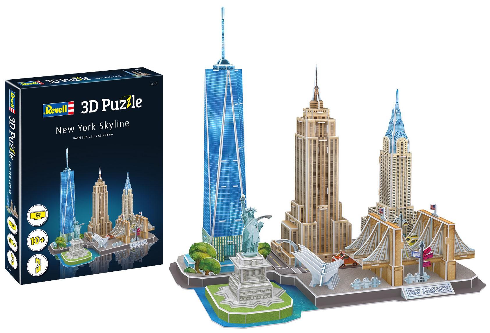 Quebra-cabeça 3D (3D Puzzle) Paisagens de Nova York - Revell 00142  - BLIMPS COMÉRCIO ELETRÔNICO