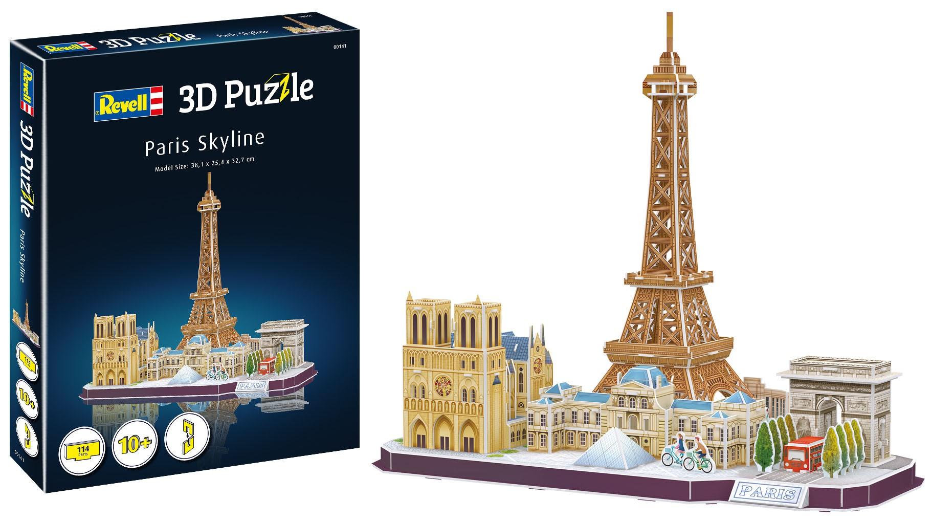Quebra-cabeça 3D (3D Puzzle) Paisagens de Paris - Revell 00141  - BLIMPS COMÉRCIO ELETRÔNICO