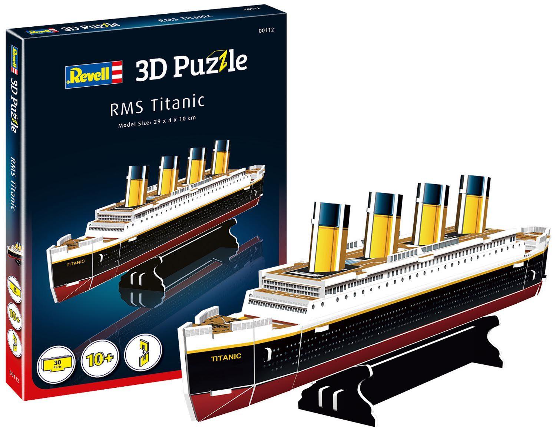 Quebra-cabeça 3D (3D Puzzle) RMS Titanic - Revell 00112  - BLIMPS COMÉRCIO ELETRÔNICO